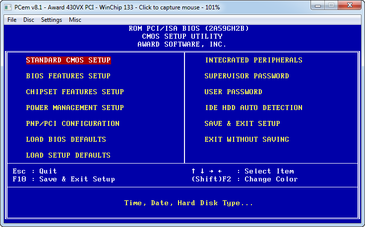 System setup and installation