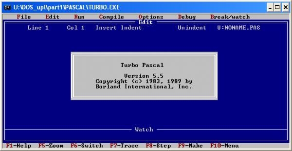 turbo pascal 5.5