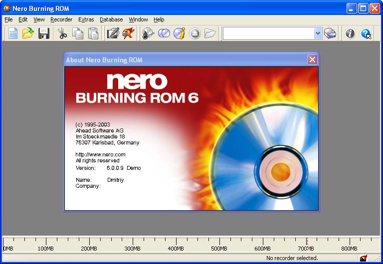 nero burning rom66115a